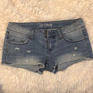 Victoria secret cheeky denim shorts